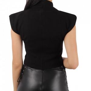Bluză pentru dame cod 0707 Black - Bluzăpentru dame  Închidere prin fermoar - Deppo.ro