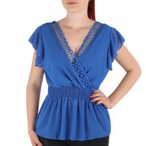 Bluză pentru dame tip cămășuță cod 1938 Blue
