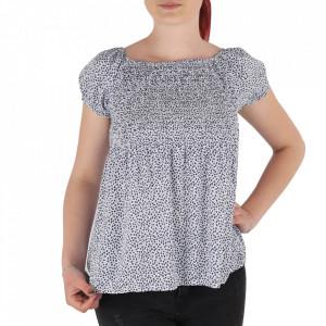 Bluză pentru dame tip cămășuță cod 31065 White