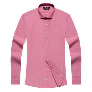 Cămaşă Body Fit Roz cu mânecă lungă - Cămaşă roz pentru bărbaţi cu mânecă lungă şi croială Body Fit. Compoziţie 80% bumbac, 20% poliester. - Deppo.ro