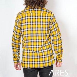 Cămaşă casual cu mânecă lungă cod ARS50 GALBEN - Camasa pentru barbati cu maneca lunga croiala confort fit. O camasa potrivita atat pentru o zi la birou, cat si pentru o iesire in oras cu prietenii. - Deppo.ro