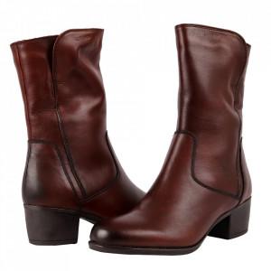 Cizme din piele naturală cod 2626X Maro - Cizme din piele naturală ideale pentru sezonul rece Calapod comod - Deppo.ro