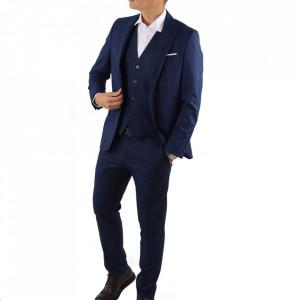 Costum slim fit 015 Albastru