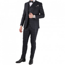 Costum slim fit 6243 Negru