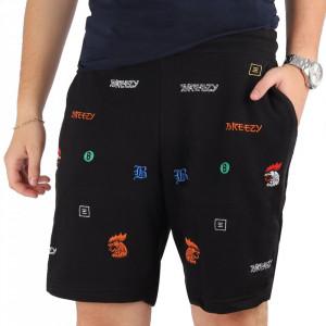 Pantaloni scurți pentru bărbați cod KLJ60 Black