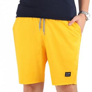 Pantaloni scurți pentru bărbați cod SMPP Yellow