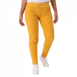 Pantaloni sport pentru dame cod DD89 Yellow