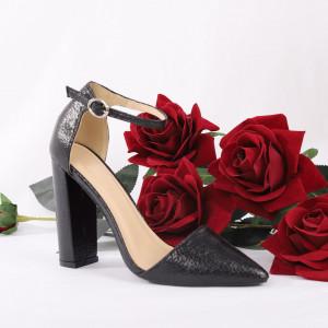 Pantofi cu toc cod 1598225 Negri