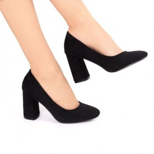 Pantofi cu toc cod OD0073 Negri