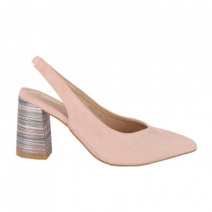 Pantofi cu toc cod OD0220 Pink