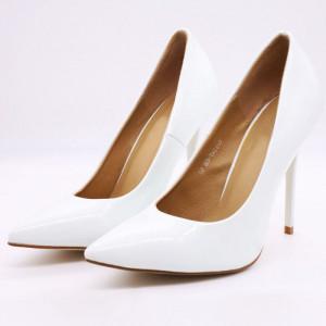 Pantofi cu toc cod Q182476B Albi