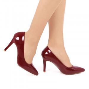 Pantofi cu toc cod SA1770 Wine