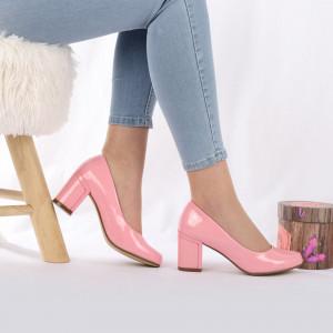 Pantofi cu toc cod SA1780 Roz