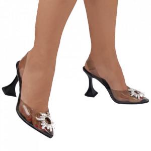 Pantofi cu toc cod SQI01 Black