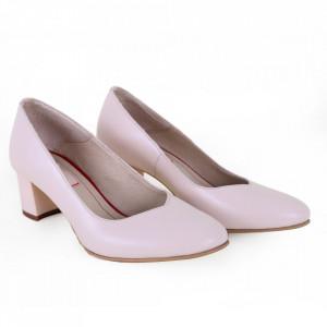 Pantofi cu toc din piele naturală cod 203 FDT