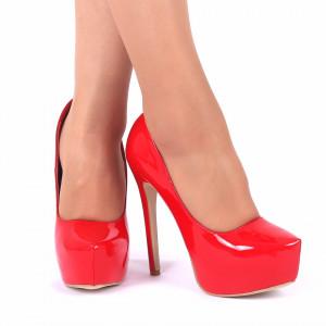 Pantofi Cu Toc Lauren Red - Pantofi cu toc și platformă foarte înalte pentru dame care vă pot completa o ținută fresh în acest sezon. Incalțî-te cu această pereche de pantofi la modă și asorteaz-o cu pantalonii sau fusta preferată pentru a creea o ținută deosebită. - Deppo.ro