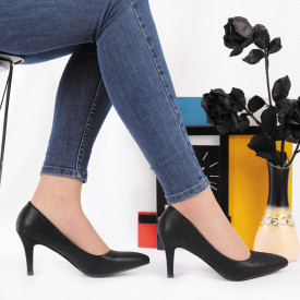 Pantofi Cu Toc Olive Black