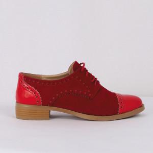 Pantofi din piele ecologică cod TN204-5 Roși