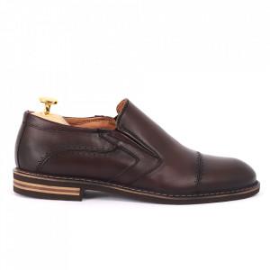 Pantofi din piele naturală bordo cod 77141 - Pantofi pentru bărbaţi din piele naturală, model simplu, finisaje îngrijite cu undesign deosebit - Deppo.ro
