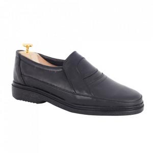 Pantofi din piele naturală cod 100N Negru