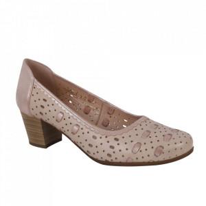 Pantofi din piele naturală cod 101-36 Bej