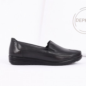 Pantofi din piele naturală cod 118121 Negri - Pantofii îți transformă limbajul corpului și atitudinea. Te înalță fizic și psihic! Pantofi pentru dame din piele naturală - Deppo.ro