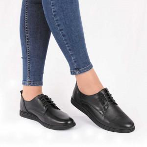 Pantofi din piele naturală cod 119422 Black - Pantofii îți transformă limbajul corpului și atitudinea. Te înalță fizic și psihic! Pantofi pentru dame din piele naturală - Deppo.ro