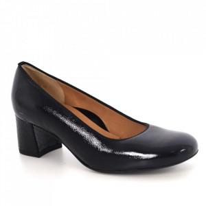 Pantofi din piele naturală cod 11G Black