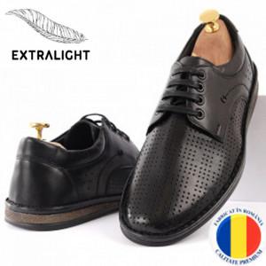 Pantofi din piele naturală Cod 169169 Negri