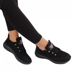 Pantofi din piele naturală Cod 20015 Negri