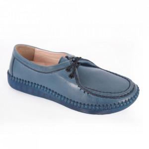 Pantofi din piele naturală cod 20121 Blue