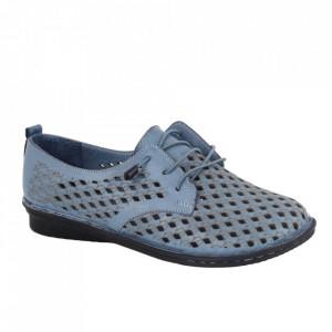 Pantofi din piele naturală cod 2023 Blue