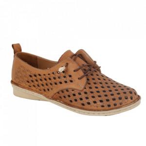 Pantofi din piele naturală cod 2023 Maro