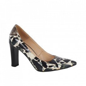 Pantofi din piele naturală cod 22517 Marble