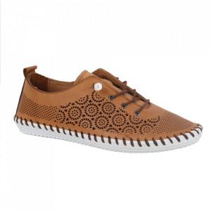 Pantofi din piele naturală cod 30110 Taba