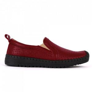 Pantofi din piele naturală Cod 4815 Bordo - Pantofi din piele naturală pentru dame Model perfofat, tălpic moale ce conferă comoditatea de care ai nevoie - Deppo.ro