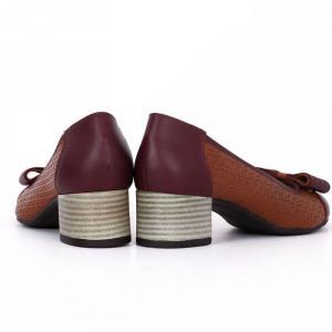 Pantofi din piele naturală Cod 4858 Maro - Pantofi damă din piele naturală  Foarte confortabili cu un tălpic special care conferă lejeritate chiar și în cazurile în care petreci mult timp stând în picioare. - Deppo.ro