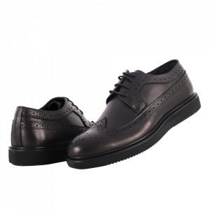 Pantofi din piele naturală cod 6000 Siyah