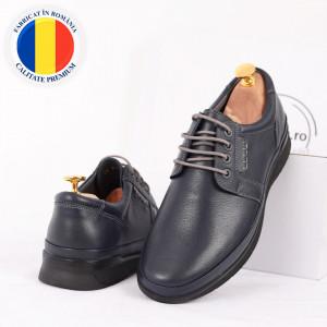 Pantofi din piele naturală cod 89912 Albaștrii