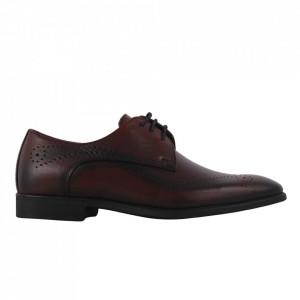 Pantofi din piele naturală cod 983 Bordo
