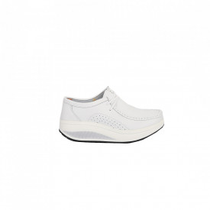 Pantofi din piele naturală cod A3888 White - Pantofi pentru dame din piele naturală  Talpă flexibilă și un calapod comod - Deppo.ro