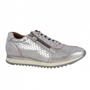 Pantofi din piele naturală cod ADS AG Silver