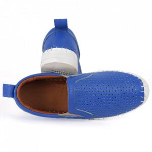 Pantofi din piele naturală Cod T485 Albaştri - Pantofi din piele naturală pentru dame Model perfofat, tălpic moale ce conferă comoditatea de care ai nevoie - Deppo.ro