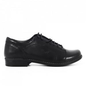 Pantofi din piele naturală negri cod 14238 N