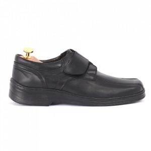 Pantofi din piele naturală negri cod 3294 - Pantofi pentru bărbaţi din piele naturală cu scai, model simplu, finisaje îngrijite cu un design deosebit - Deppo.ro