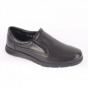 Pantofi din piele naturală pentru bărbați cod 178 Negru