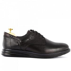 Pantofi din piele naturală pentru bărbați cod 2766 Negri