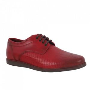 Pantofi din piele naturală pentru bărbați cod 2819 Rosu