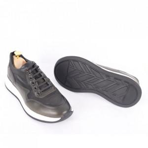 Pantofi din piele naturală pentru bărbați cod 328-1 Verde - Pantofi din piele naturală moale pentru bărbați Model simplu, finisaje îngrijite - Deppo.ro
