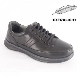 Pantofi din piele naturală pentru bărbați cod 4205 Black